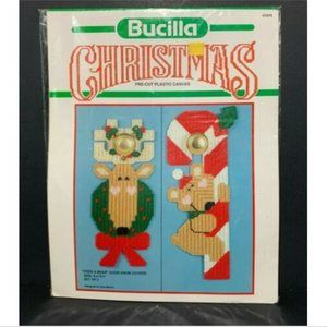 Bucilla Christmas Needlecraft Door Knob Covers